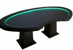 Mesa Poker oval com dealer 6 e 8 players cod. 10133
