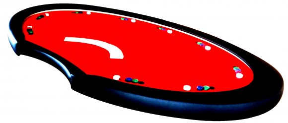 Mesa Poker oval com dealer 9 players cod. 10135 - foto 2