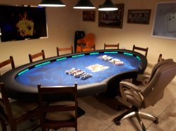 Mesa Poker oval com dealer 9 players cod. 10135